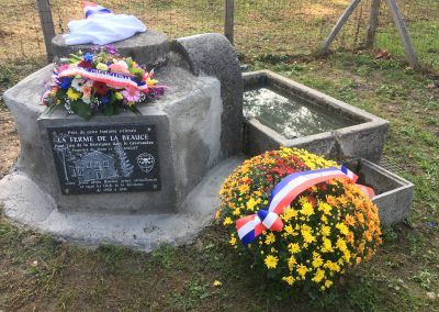 La plaque commémorative